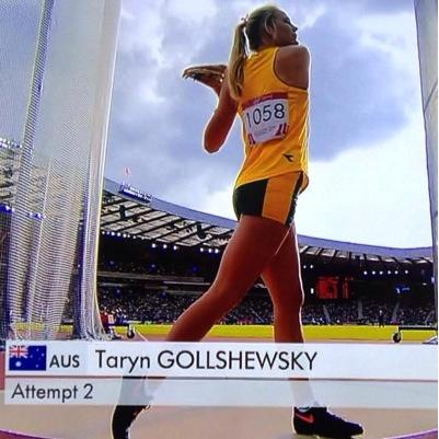 Taryn Gollshwesky - closed in on the OQ mark of 61.00m on the Gold Coast with a superb 60.07m PB